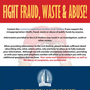 Fight fraud, waster, & Abuse