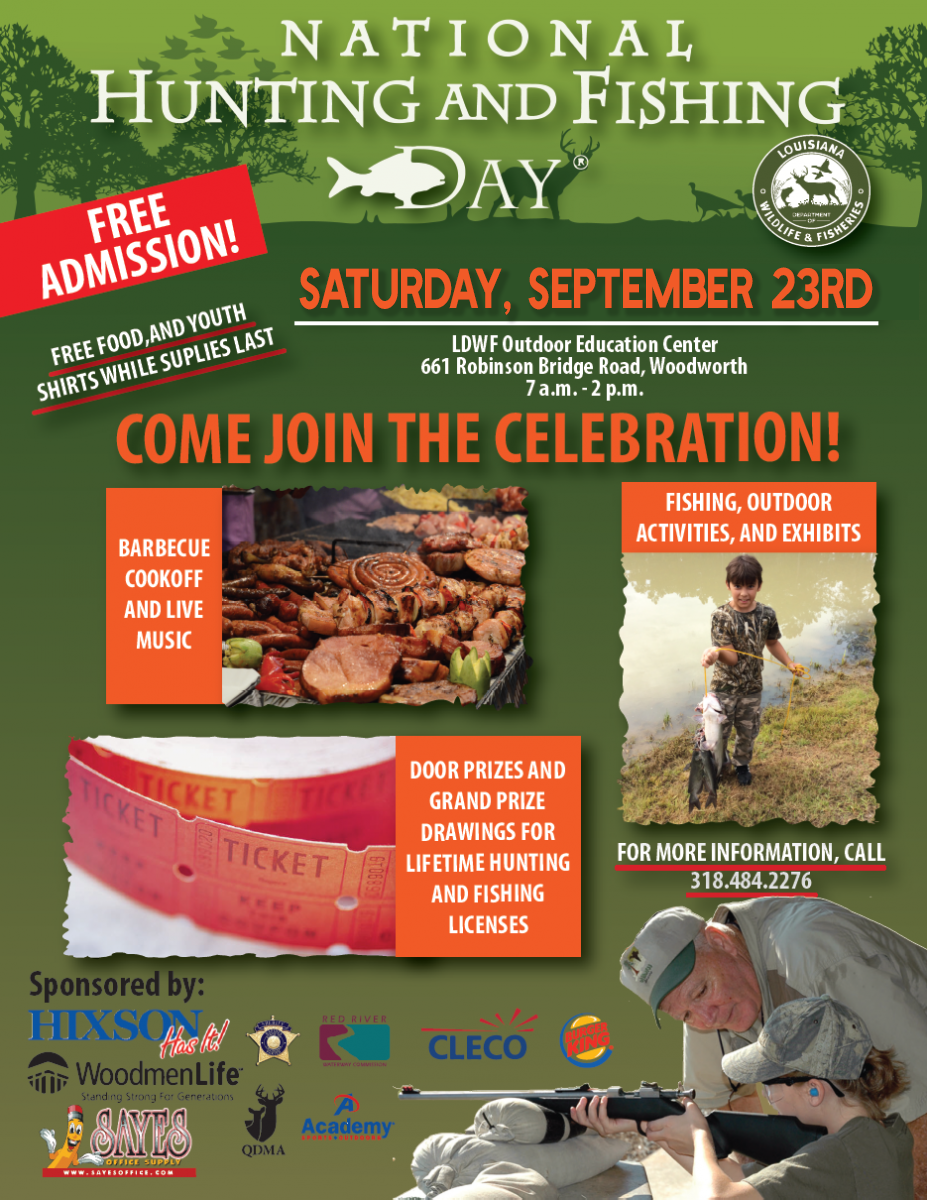 National Hunting & Fishing Day - Woodworth, LA