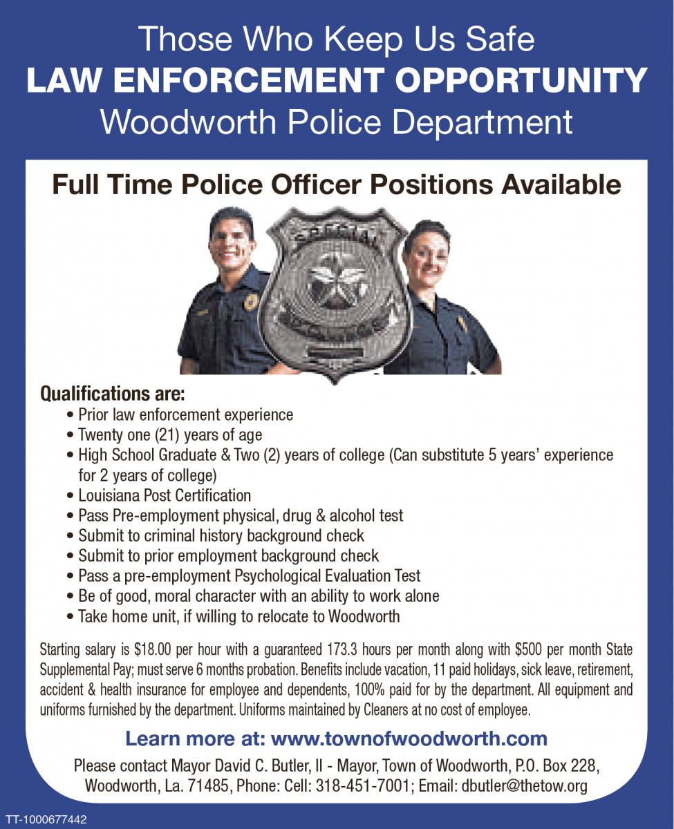 Police Officer Positions available
