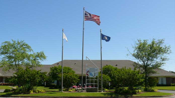 Wesley Center flags