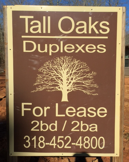 Tall Oaks Duplexes for lease 2 bedroom 2 bath 318 452 4800